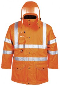 Hi-Vis 7 u 1 Traffic jakna, GO/RT